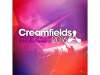 Creamfields 3 day camping ticket £180