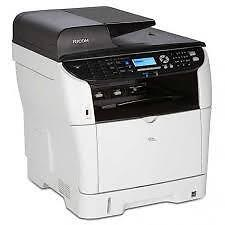 Ricoh SP 3510SF Black and White Laser Multifunction Printer W. Fax USED, LIKE NEW *PickupOnly
