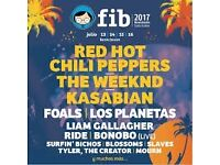 Selling 2x festival tickets for Benicassim. These tickets include 4 days of music and 8 days camping