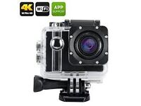 ELE Explorer Pro 4K Action Camera - Voice Broadcast, Wi-Fi,170 Degree Wide Angle