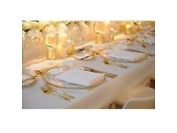 Sales!Sales! Sales! Gold/Silver Glass Charger Plates for Hire in North West Area (Manchester)£1.20