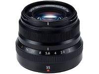FujifilmXF 35mm f/2 R WR Lens (Black) with Hoya UVC filter.