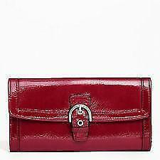 Coach Red Patent Leather Wallet Ebay