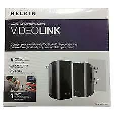 Belkin Videolink powerline internet adapter for 1 device brand new sealed.