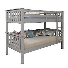 NOVARA BUNK BED (GREY) THAT CAN BE SPLIT INTO 2 SINGLE BEDS (BRAND NEW)
