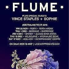 Flume Sydney GA Standing Hard Copy Wareemba Canada Bay Area Preview