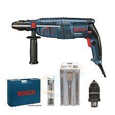 BOSCH Bohrhammer GBH 2600 + 3 Bohrer + 3 Meißel +Koffer +Futter wie GBH 2-26 DFR