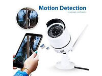 DBPOWER Bullet IP cctv Camera with day/Night Vision Motion Detection Remote app Phone/