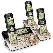 V-Tech Dect 6.0 3 Handset Cordless Phone Caller ID/Call waiting. Answering machine (CS6858-3) Super Sale $49.00 NO TAX