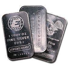 1oz .999 Pure Silver ENGELHARD Bars