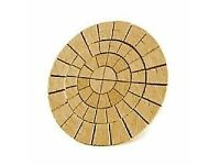 Paving/Slabs 8ft Yorkstone Patio Circle, New