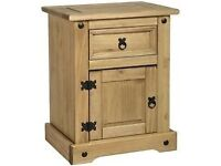 bedside cabinet corona cabinet in light oak wood.Brand new and still in box.