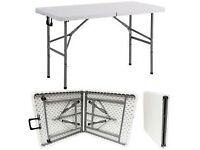 New 4ft folding exterior/interior white table