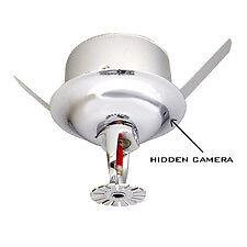 Spy-MAX Security Sprinkler Head Hidden Camera w/ DVR & 30-Day Battery