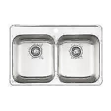 Queen Sink 31¼  x 20½ inches Kindred Topmount 7 inches Dp $180 / 8 inches Dp $230 Double Kitchen Sink Faucet Ledge