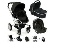 **Urgent** Graco Symbio Pram/Travel system - includes carry cot, car seat, pushchair for £125
