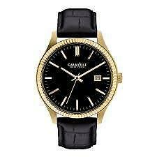 Caravelle New York Men's 44B106 Analog Display Japanese Quartz Black Watch