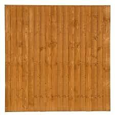 6' x 6' closed board vertical fence panels