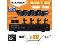 Floureon Home CCTV 8 Channel Wireless Security camera Kit(brand new!!!!!!!!)