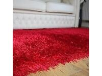 CHEZ TOI GLAMOUR RED RUG 120X170CM