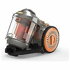 Vax Power3 Bagless Cylinder Vacuum Cleaner - Grey Orange