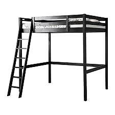 IKEA black double cabin bed and mattress