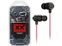 NEW - GENUINE JVC XTREME XPLOSIVES HAFX1X IN EAR BASS EARPHONES