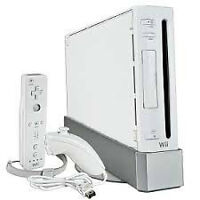 Wii console with 2 Remotes, 2 Nunchuks