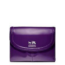 Purple Coach Madison Wallet