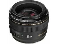 Canon 28mm f/1.8 USM Wide Angle Lens
