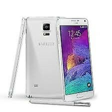 Samsung Galaxy note 4 (WHITE,UNLOCKED, GOOD CONDITION)