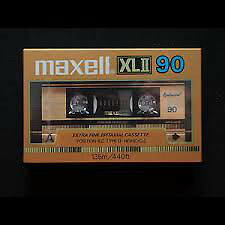 MAXELL XLII 90 MINUTE AUDIO TAPE BRAND NEW STILL FACTORY WRAPPED London Ontario image 1