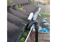 Professional clogged guttering turbo vacuum service