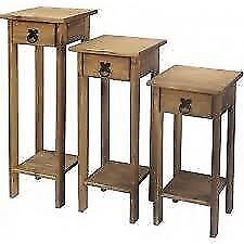 New Solid Cheap Corona Mexican Pine 1 drawer plant stand £23 FULLY BUILT IN STORE NOW