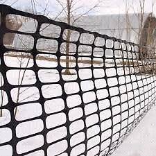 Black plastic snow fence wanted Peterborough Peterborough Area image 1
