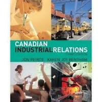 Textbook - Canadian Industrial Relations 3rd Edition