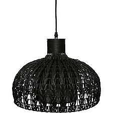 Nowodvorski Contemporary Designer Modern Black Rattan Ceiling Light £129