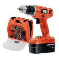 Black & Decker 18V Cordless NiCad Drill/Driver with Accessories