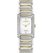 Eco-Drive Silhouette Diamond Stainless Steel Women's watch Eg2964-56a