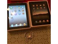 Like new use condition (unlocked)Apple iPad 64gb +3G Wi-Fi 9.7in boxed and iPad 2 16gb Wi-Fi 9.7in