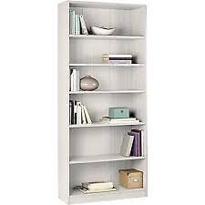 Maine Tall and Wide Extra Deep Bookcase - white
