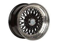 "BBS RS style brand new Alloy wheels Nissan 100nx almera micra clio alloys wheel 16"" inch x 9j 4x100"