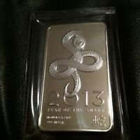 Bar en argent/silver 10 oz NTR year of the Snake 2013