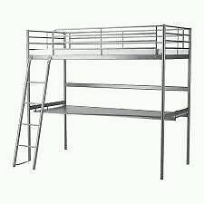 Metal high bed