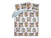 Brand new animal in frame double bedding set
