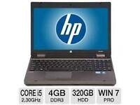 PROFESSIONALLY REFURBISHED HP6560 4GB RAM 320 GB HDD INTEL i3 2.3GHZ WEBCAM OFFICE 6 MTH WARRANTY