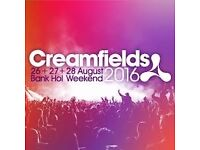 SILVER, 3 DAYS CAMPING CREAMFIELD tickets