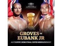CHRIS EUBANK JNR VS GEORGE GROVES 17TH FEBRUARY 2 TICKETS AT THE MEN