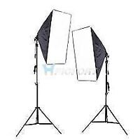 Photography lighting - two softboxes/stands