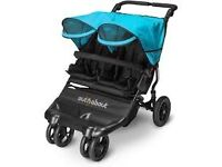 BRAND NEW Out n About Little Nipper Double Stroller Marine Blue